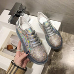2019 Trendy Blingbling Rhinestone Women Sneakers