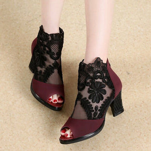Women Casual Rome High Heels Pumps