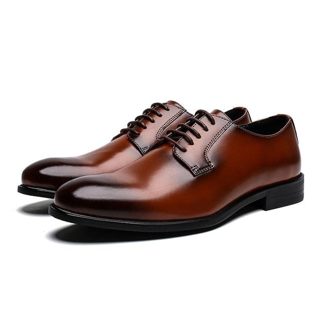 2019 New Brand Classic Genuine Leather Men Dress Shoes
