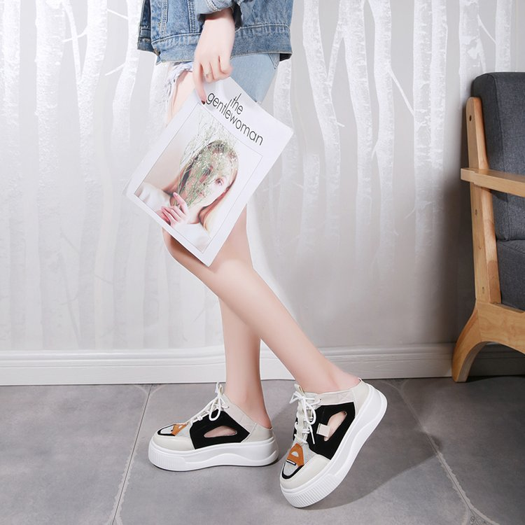 Mix Color Flat Platform Shoes
