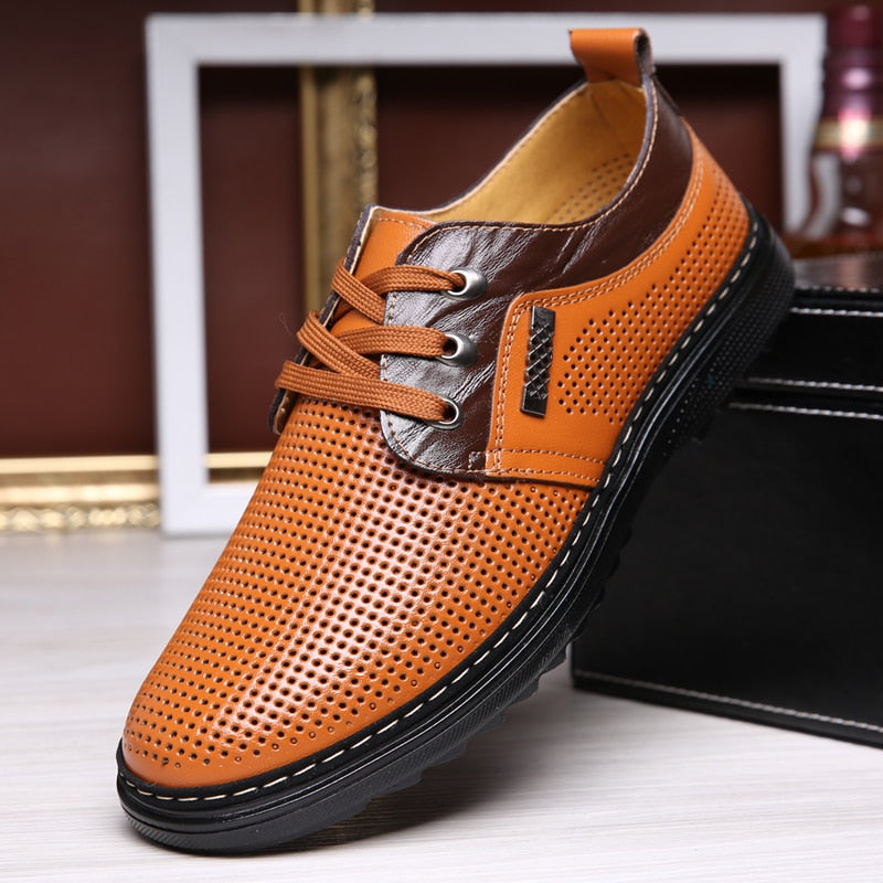 Summer Genuine Leather Oxford Shoes
