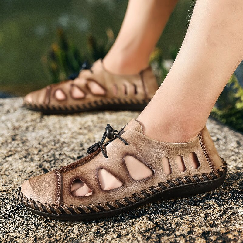 High Quality Leather Beach Sandals