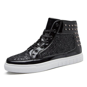 Lovers Rivets Punk Glitter Shoes