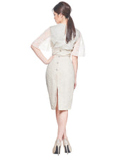 Load image into Gallery viewer, The Katherine White High Waisted Pencil Skirt