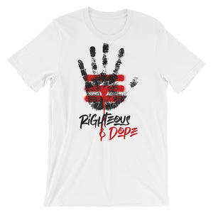 The Sacrifice white Short-Sleeve Unisex T-Shirt - righteous-and-dope