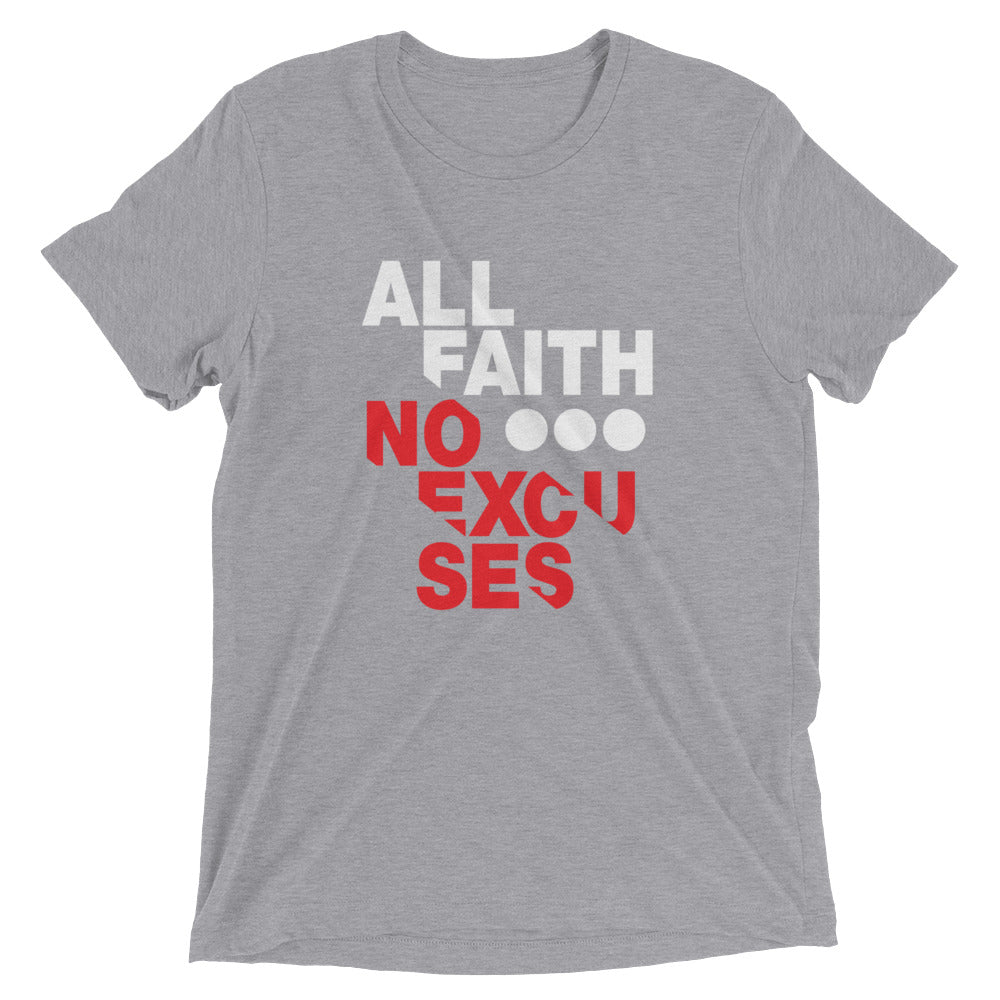All Faith Black Short Sleeve Christian T-Shirt - Righteous and Dope - righteous-and-dope