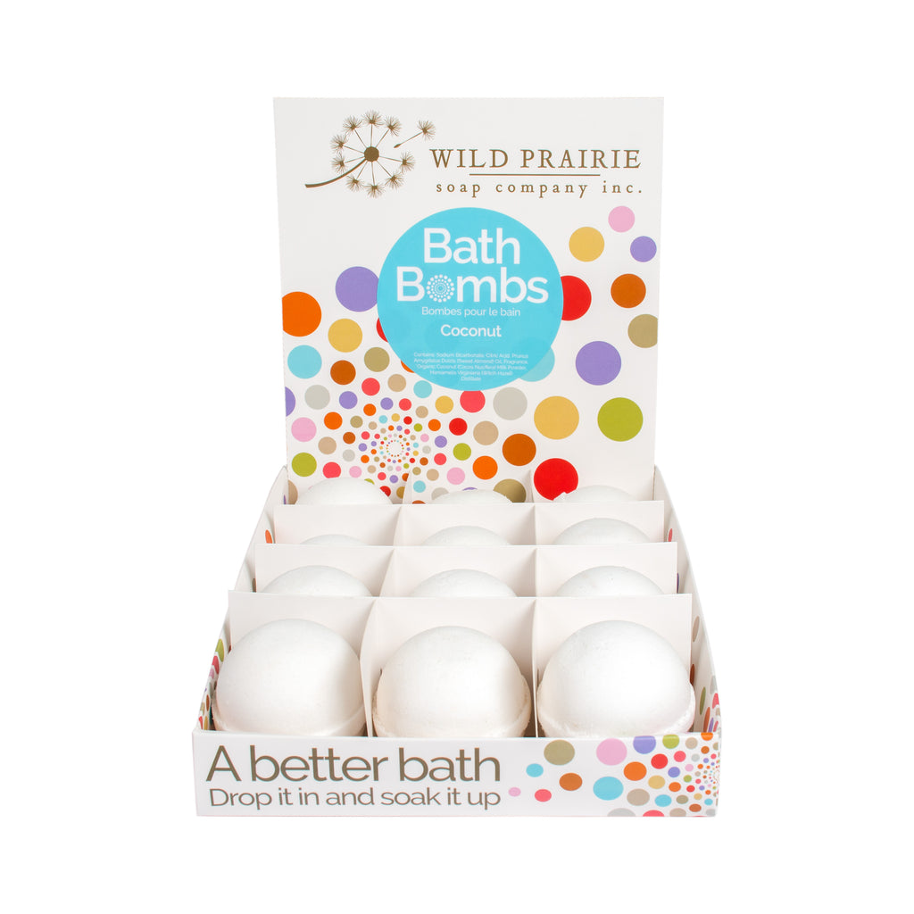 Assorted Case of 12 Natural Bath Bombs