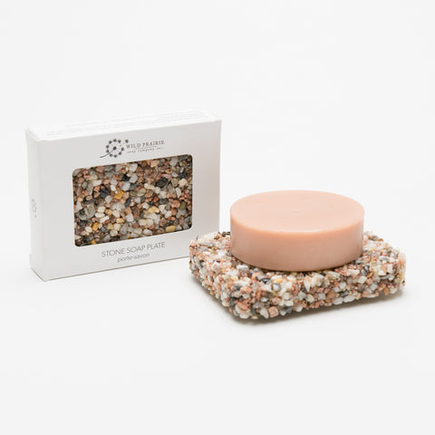 Stone Soap Plate - Coral
