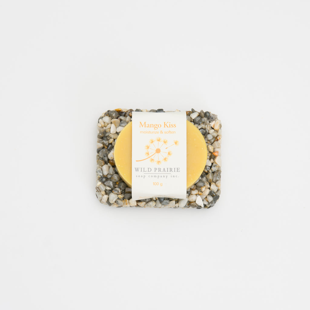 Beach Stone Soap Plate & Natural Soap Bar Bundle