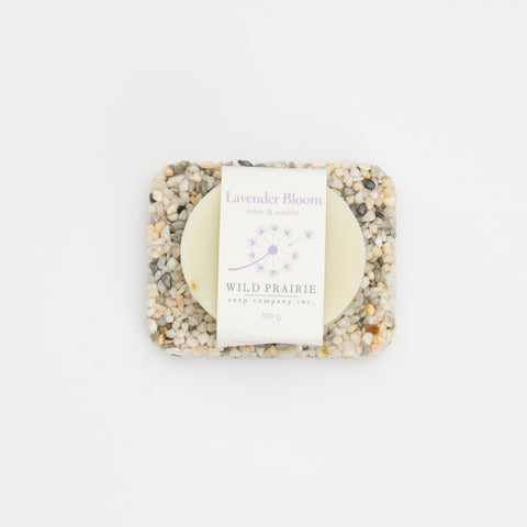 Pearl Stone Soap Plate & Natural Soap Bar Bundle