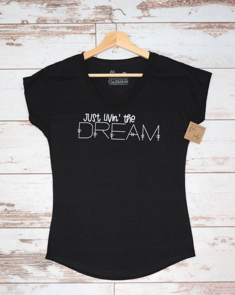 914619593e Just Livin The Dream #2 Women's T-shirt – Five Against One Apparel