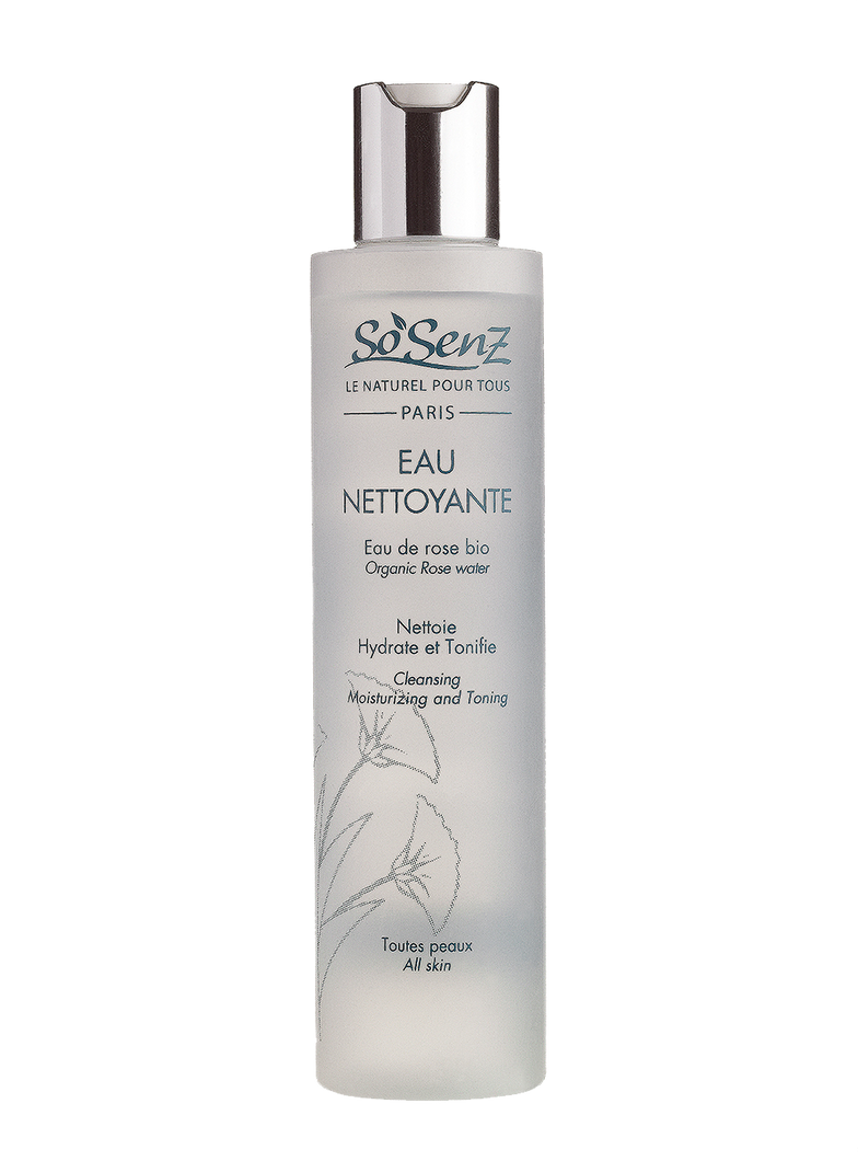 Eau Nettoyante/ Cleaning moisturizing and toning organic rose water