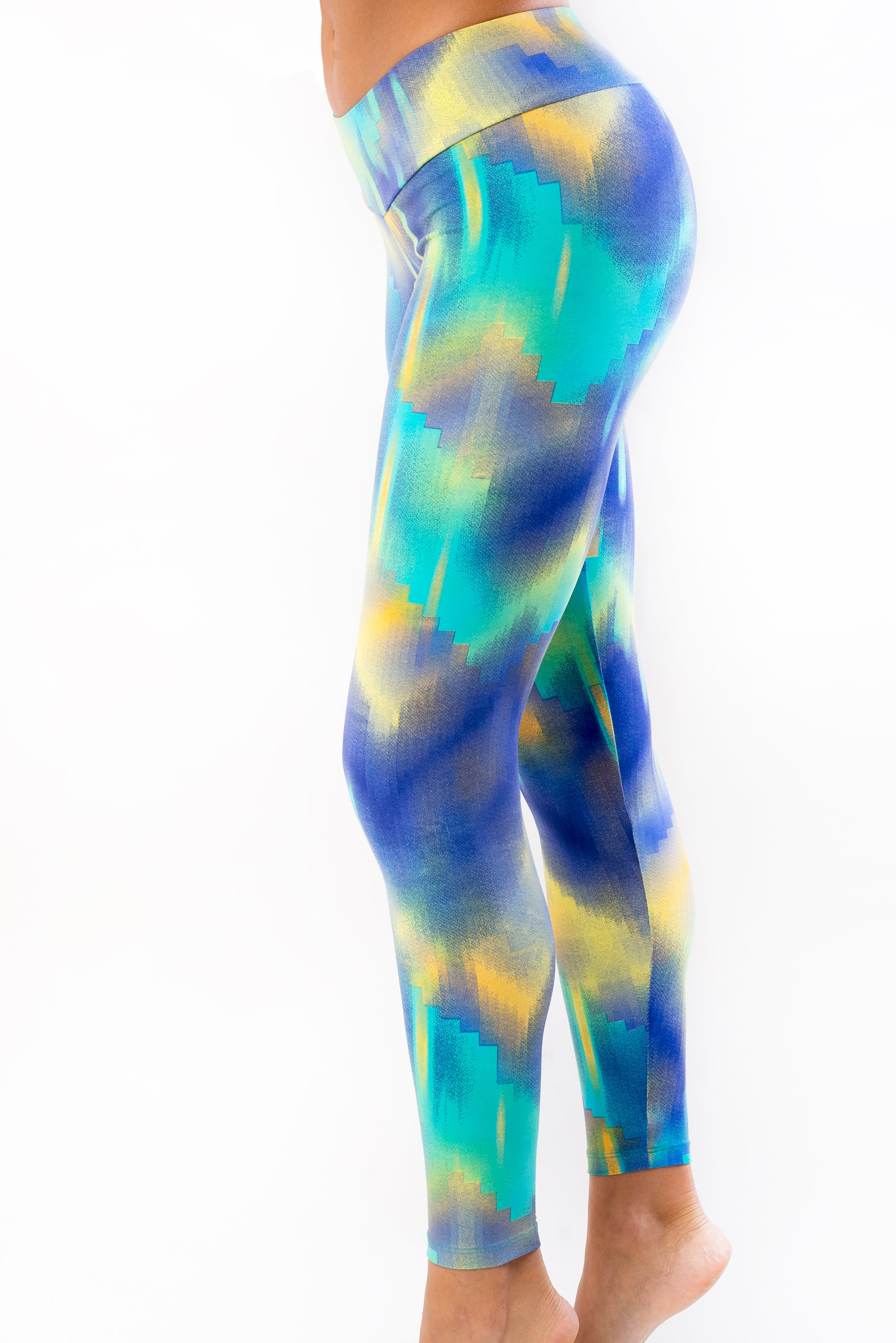 Mystic Blue Legging - Brazilian Athleisure wear Leggings - activewear, yoga clothes, yoga pants, pilates, gym wear Beleza Australia Beleza Australia
