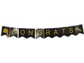 Congrats banner decor, college graduation party decoration