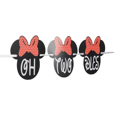 2nd birthday high chair minnie mouse theme party supplies