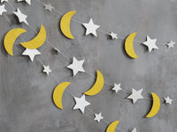 Moon and Stars Garland Hanging Decorations