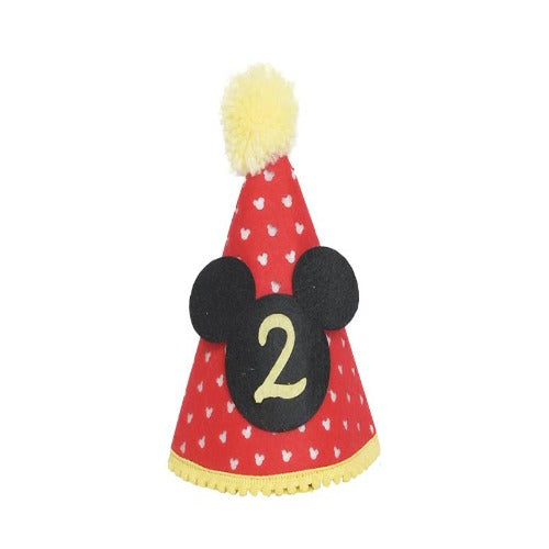 Mickey Mouse 1st and 2nd birthday party hats, mickey mouse party hat