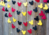 Tricolor paper mickey mouse head garland party supplies