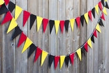 Mickey mouse head garland tricolor paper party supplies