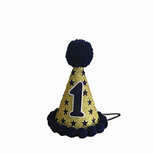 -Twinkle Twinkle Little Star Birthday hat- Boy's First Birthday hat-Twinkle Star Party Hat Boy-Cake Smash hat -Navy Blue Star hat