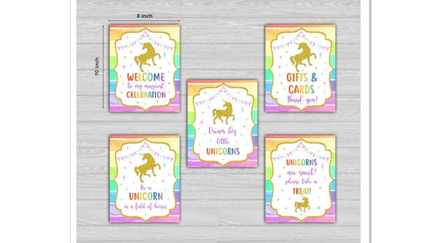 Unicorn theme decoration ideas - birthday party, room and table decor
