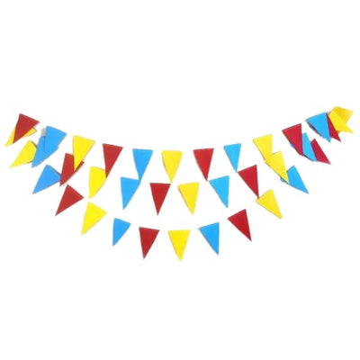 Circus Theme Triangle Banner |Carnival Banner - Circus Party Garland | Triangle Garland