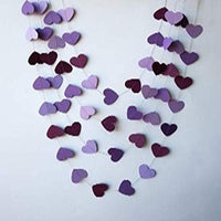 20 feet Heart Garland - Purple Wedding Decoration- Valentine Day Decor- Wedding Garland- Bridal Shower décor