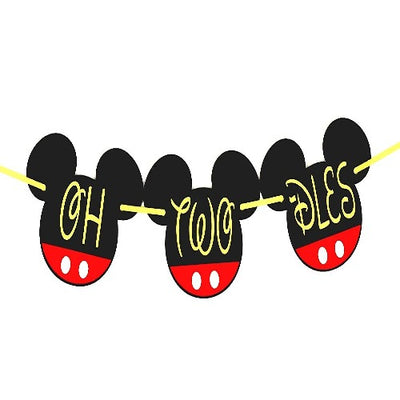 Oh Two Dles Mickey Mouse Birthday Party Banner