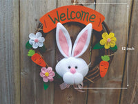 Welcome wreaths front door hanging decoration