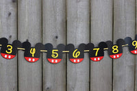 Mickey mouse newborn to 12 month photo banner