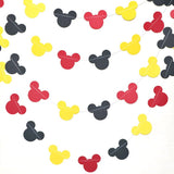 Reusable tricolor mickey head paper garland decorations party supplies