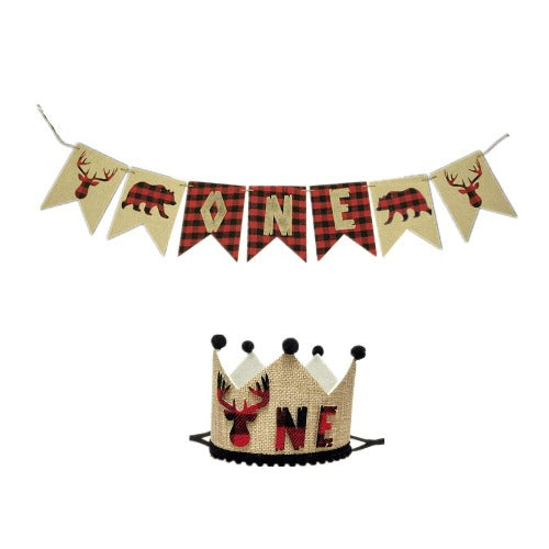Lumberjack ONE Banner + Crown