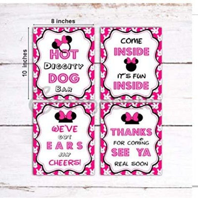 Minnie Mouse Clubhouse inspired Door Sign | Hot Diggity Dog Bar Party Sign [Pink]