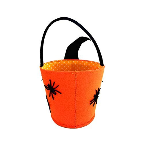 Halloween decorations ideas, felt trick or treat bags, skeleton, skull, basket