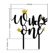 Acrylic Monogram Wild One Birthday cake topper