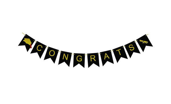 Congratulations banner sign for graduation party supplies