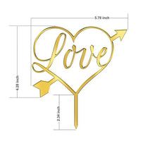 Acrylic monogram love cake topper