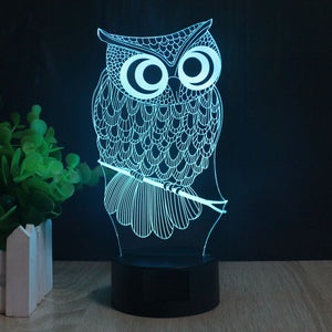 LED Cartoon Owl Light