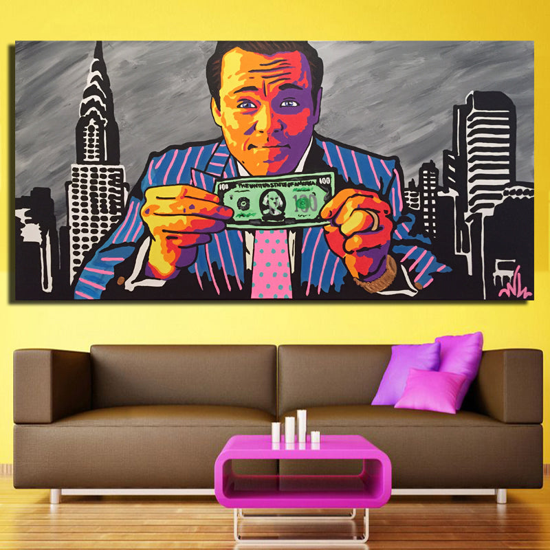 Wolf Of Wall Street Oil Painting Single Piece Canvas