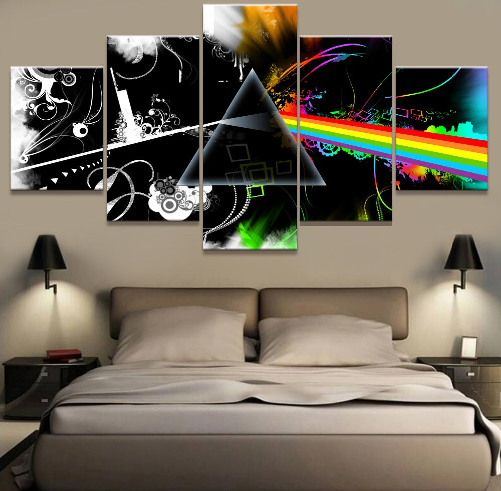 Pink Floyd Band Five Piece Canvas