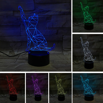 LED Clawing Cat Light