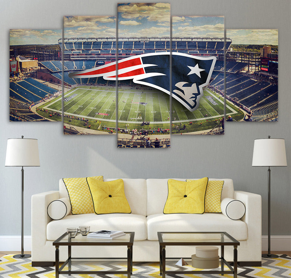 New England Patriots Stadium Five Piece Canvas