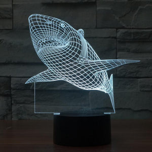 LED Shark Lamp
