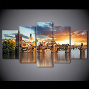 Charles Bridge Five Piece Canvas