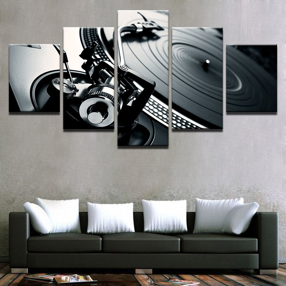 HD Record Player Five Piece Canvas