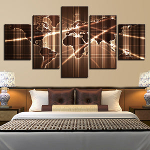 Abstract Earth Five Piece Canvas