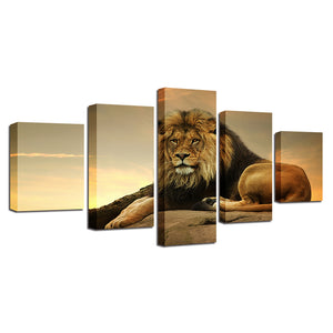 The King Of Beasts Five Piece Canvas