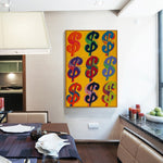 Dollar Sign Oil Painting Single Piece Canvas