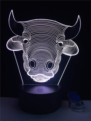 LED Bull Cow Lamp