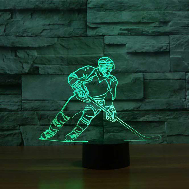 LED Ice Hockey Player Lamp